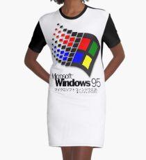 WINDOWS 95 (white/no clouds) Graphic T-Shirt Dress