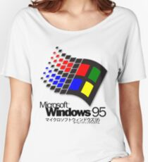 WINDOWS 95 (white/no clouds) Women's Relaxed Fit T-Shirt