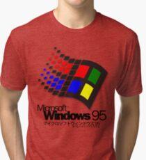 WINDOWS 95 (white/no clouds) Tri-blend T-Shirt