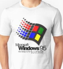 WINDOWS 95 (white/no clouds) Unisex T-Shirt