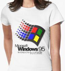 WINDOWS 95 (weiß / keine Wolken) Tailliertes T-Shirt für Frauen