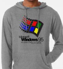 WINDOWS 95 (weiß / keine Wolken) Leichter Hoodie