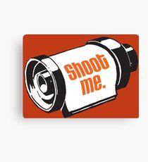 Shoot me 35mm film roll Canvas Print