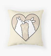 Llama Love  Throw Pillow