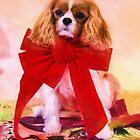 Christmas Joy Of A Cavalier King Charles by daphsam