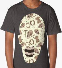 Zombies In Sepia Funny Horror Pattern Long T-Shirt