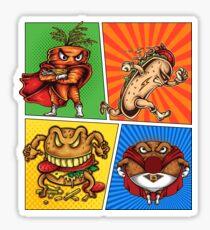Foodietoon /  Cartoon / Carrot Hot Dog Burger Donut Sticker