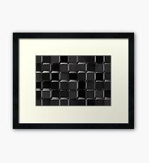 Black glossy mosaic Framed Print