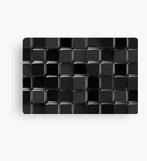 Black glossy mosaic Canvas Print