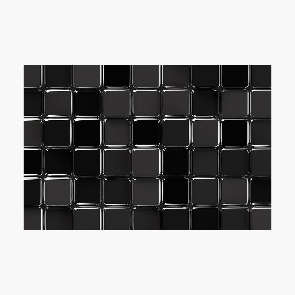 Mosaico negro brillante Lámina fotográfica