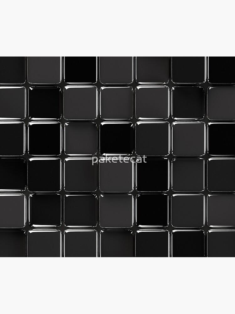 Mosaico negro brillante de paketecat