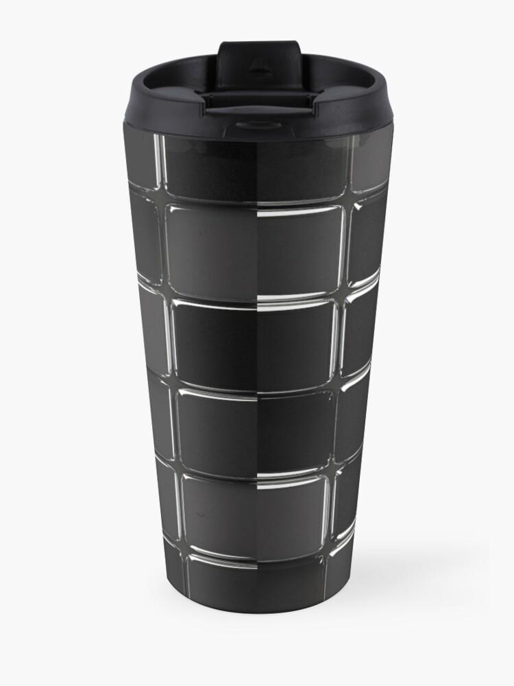 Vista alternativa de Taza de viaje Mosaico negro brillante