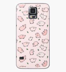 Funda/vinilo para Samsung Galaxy Cerdos Rosados Con Bellotas Verdes