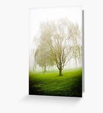 WILLOW IN THE FOG Greeting Card
