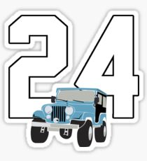 Not just a number Stiles 24 Sticker
