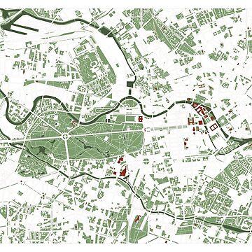 Berlin city map minimal by PlanosUrbanos