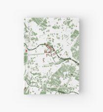 Berlin city map minimal Hardcover Journal