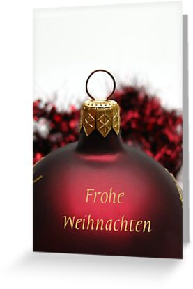 Frohe Weihnachten: Red ornament by Sabbia-Natale