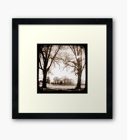 Past & Present Framed Print
