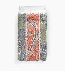 Six Cities map Duvet Cover