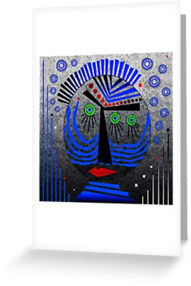Tribal Whimsy 11 - Greeting Card by Glen Allison
