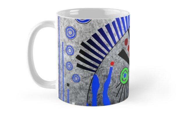 Tribal Whimsy 11 - Mug by Glen Allison