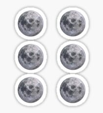 Moon - Set of 6 Sticker Pack Sticker