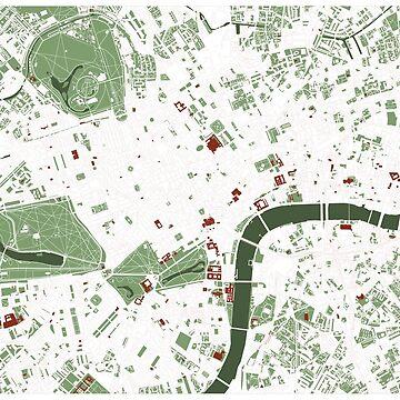 London minimal map by PlanosUrbanos