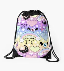 Pastel Goth Collage Drawstring Bag