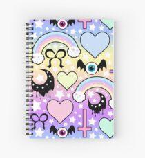 Cuaderno de espiral Collage pastel gótico