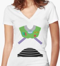 Buzz Lightyear Suit Women's Fitted V-Neck T-Shirt