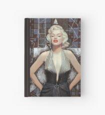 Marilyn Monroe, Old Hollywood, celebrity art, brown shades Hardcover Journal