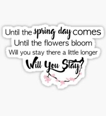 BTS- Spring Day Sticker
