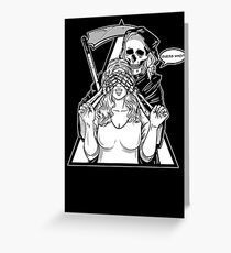 Guess Who # Devil # Creepy #Love with Devil # Death Greeting Card
