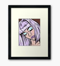 Lilac Bangs Crying Girl Framed Print