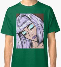 Lilac Bangs Crying Girl Classic T-Shirt