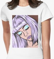 Lilac Bangs Crying Girl Women's Fitted T-Shirt
