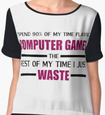 Computer Gaming Chiffon Top