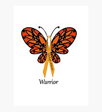 MS Multiple Sclerosis Warrior Tee Photographic Print