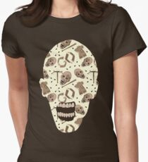Zombies In Sepia Funny Horror Pattern Women's Fitted T-Shirt