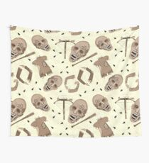 Zombies In Sepia Funny Horror Pattern Wall Tapestry