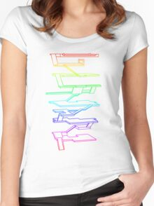 THE RAINBOW ROOMS Women's Fitted Scoop T-Shirt