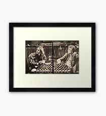 "iggy pop and tom waits,...""coffee and cigarettes"" Framed Print"