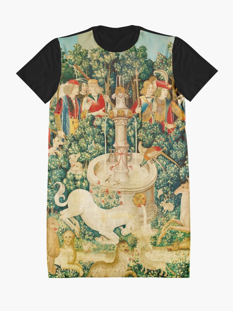 Alternate view of HD The Unicorn is Found (1495) Graphic T-Shirt Dress