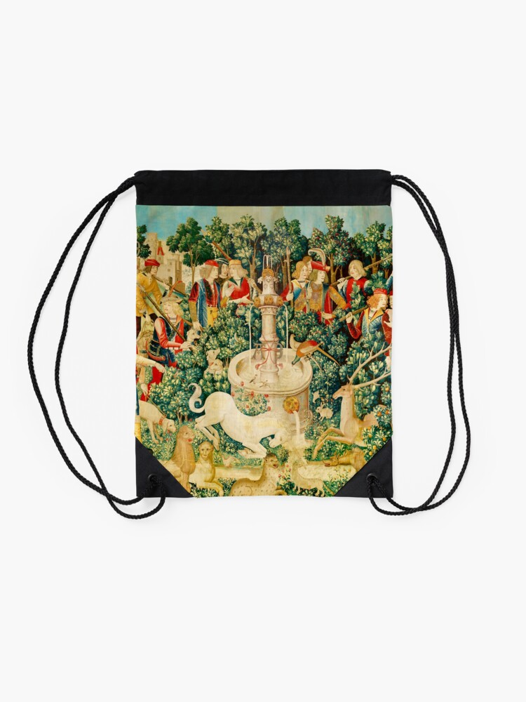 Alternate view of HD The Unicorn is Found (1495) Drawstring Bag