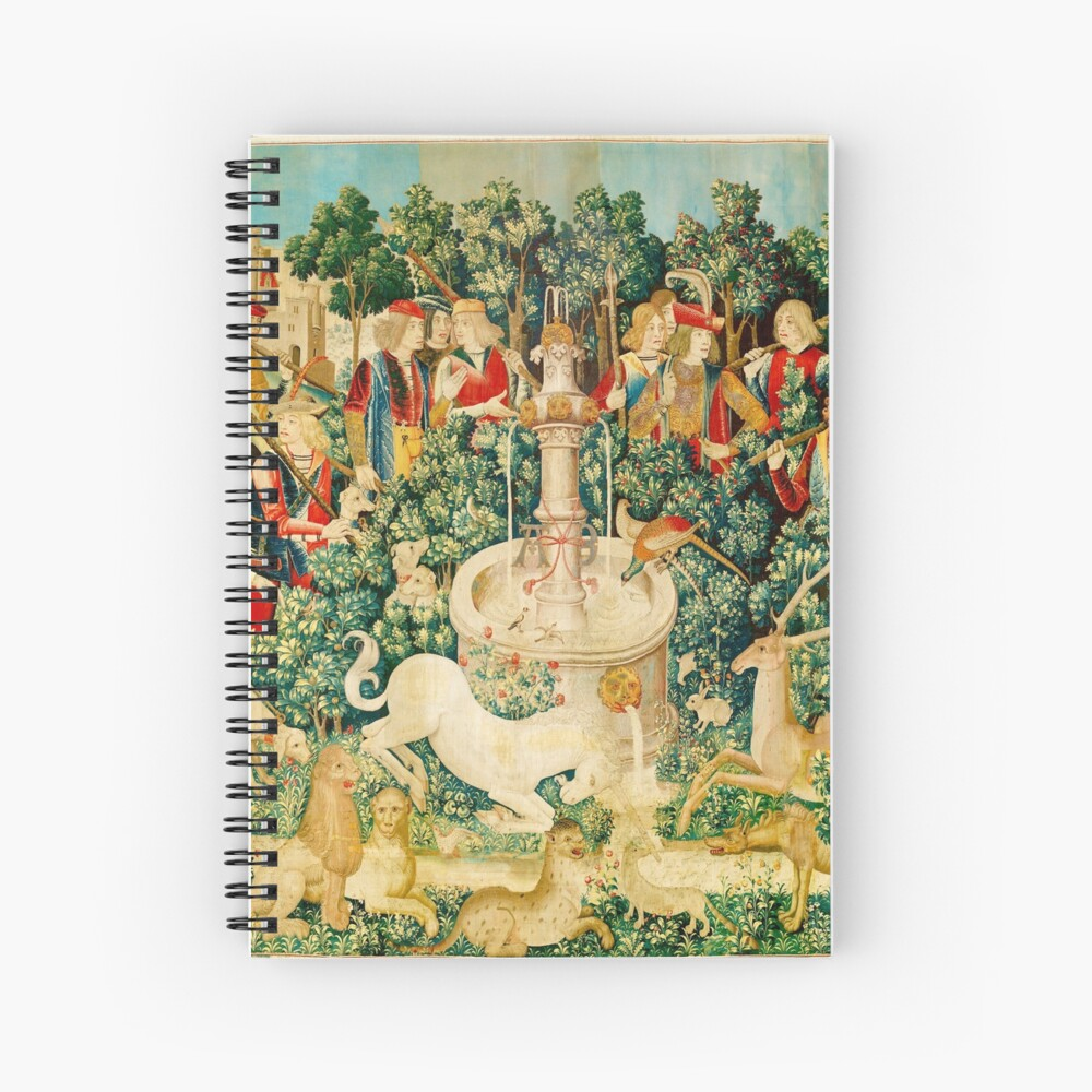 HD The Unicorn is Found (1495) Spiral Notebook