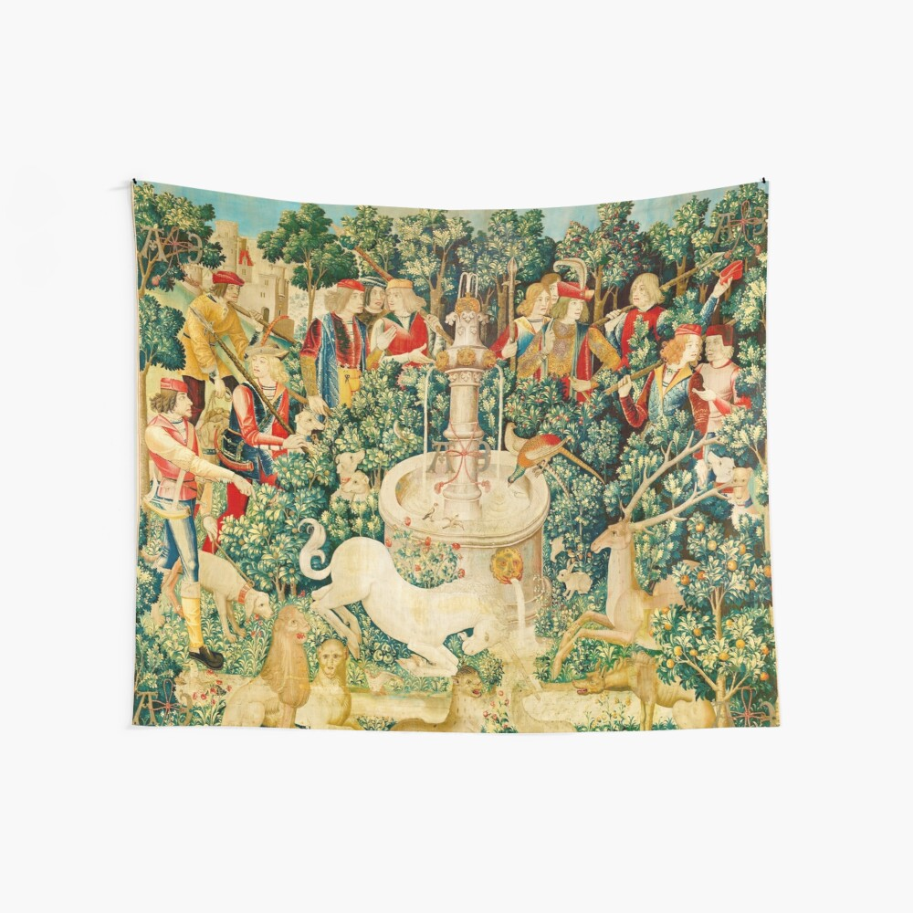 HD The Unicorn is Found (1495) Wall Tapestry