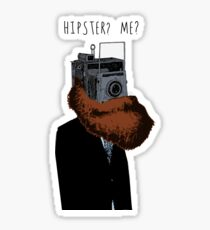 Hipster? Me?  Sticker