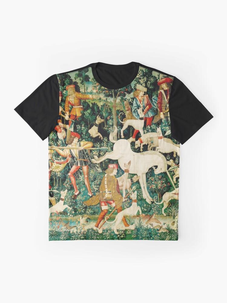 Vista alternativa de Camiseta gráfica HD El unicornio es atacado (1495)