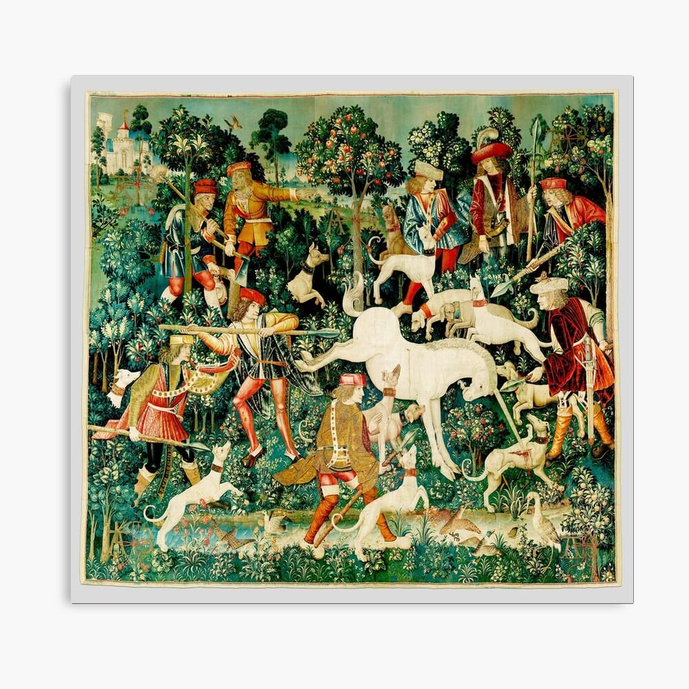 HD El unicornio es atacado (1495) Lienzo